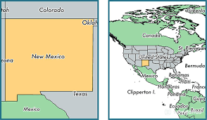 map of mexico with states where is new mexico state where is new mexico located in the