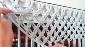 diy how to make a macrame curtain with trample by steffido youtube