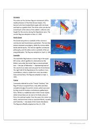 the meaning of flags worksheet free esl printable worksheets