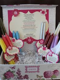 what gift to give at a bridal shower wedding shower candle poem gift set bridal candle basket
