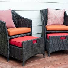 Pull Out Ottoman Wicker Patio Chairs And Pull Out Ottomans Ebth