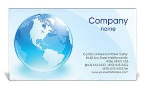 glass globe business card template u0026 design id 0000000871