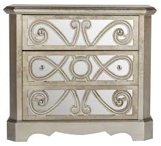 Silver Leaf Nightstand Amh1556b Chests Furniture By Safavieh