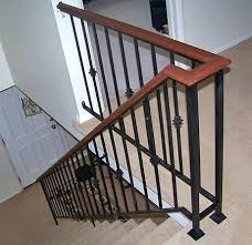lowes banisters and railings wrought iron indoor railing golbiprint me