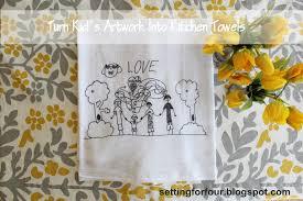 turn children u0027s art into tea towels guest post mom 4 real