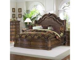 pulaski furniture san mateo king microfiber upholstered sleigh bed