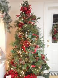 xmas tree decorating ideas with simple ornament design for