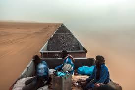 in photos a 20 hour train ride through the sahara desert in