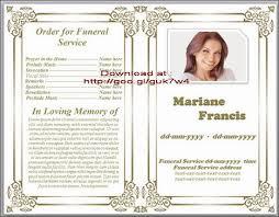 sle funeral program notice template free obituary template