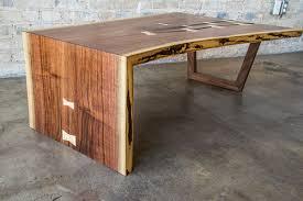 Walnut Slab Table by Walnut Slab Waterfall Coffee Table U2014 Gudde Co Custom Handmade