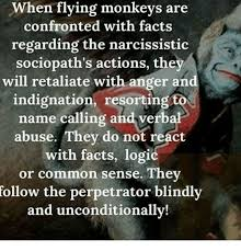 Flying Monkeys Meme - when flying monkeys are confronted with facts regarding the