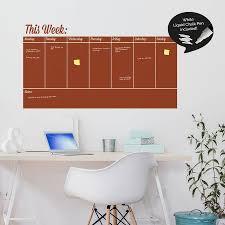 write and erase weekly planner wall sticker by sirface graphics write and erase weekly planner wall sticker