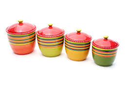 colorful kitchen canisters certified international tamale 4 canister