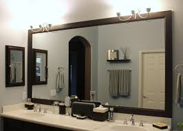 classy dark wood bathroom mirror also cottage bathroom mirror