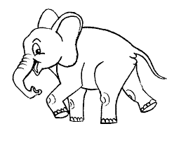 elephant pictures to color kids coloring pictures download