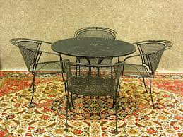 Retro Patio Umbrella by Furniture Retro Metal Patio Chairs Surrounding Table With Patio