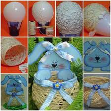 Diy Easter Decorations String Eggs by Diy Egg Shaped Easter String Basket Find Fun Art Projects To Do