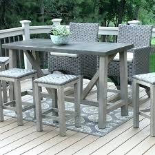 metal bar table set outdoor metal bar table long narrow high top metal wood combo