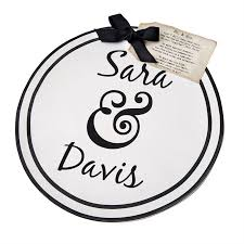 personalized serving platter ceramic ampersand personalized ceramic serving platter mud pie market