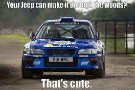 jeep subaru awesome subaru is awesome quickmeme