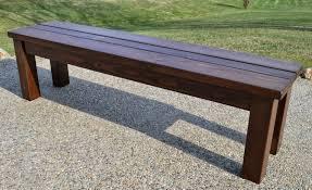 kruse u0027s workshop simple indoor outdoor rustic bench plan