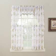 Kitchen Curtains And Valances Amazon Com No 918 Eve U0027s Garden Floral Print Kitchen Curtain
