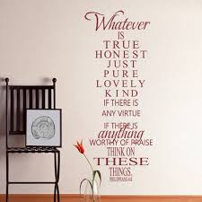 Wall Decal Music Headphones Teen by Amazon Com Mairgwall Bible Verse Wall Decal Philippians 4 8