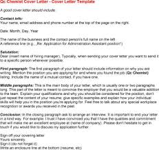 cover letter qc chemist cover letter cover letter for qc chemist