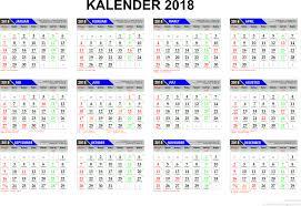 Kalender 2018 Hd Template Kalender 2017
