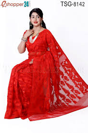 jamdani saree bangladesh tangail moslin silk jamdani saree tsg 8142 online shopping in