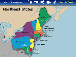 usa map northeastern states northeast states and capitals map my east region