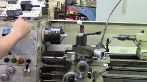 tapping on a manual lathe youtube