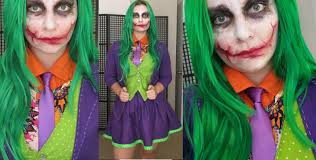 Joker Halloween Costume For Females Joker Makeup And Costume Tutorial Youtube