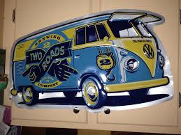volkswagen van art thesamba com split bus view topic new wall art