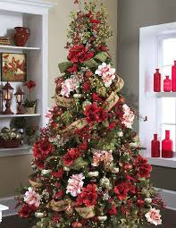 christmas tree decoration use flowers to decorate their christmas trees and it s