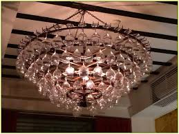 Wine Glass Chandelier Diy Wine Glass Chandelier Inspiration Home Designs Beautiful
