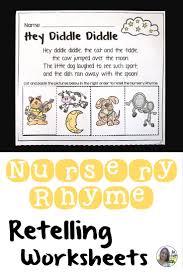 nursery rhymes retelling worksheets no prep literature
