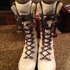 womens ugg patten boots 56 ugg shoes ugg white kintla boots size 7 from liz s