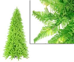 9 pre lit slim lime green spruce tree clear