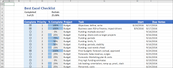 How To Do A Simple Spreadsheet The Best Excel Checklist Critical To Success