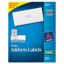 33 Labels Per Sheet Template by Avery 5351 White Copier Mailing Address Labels Permanent Adhesive