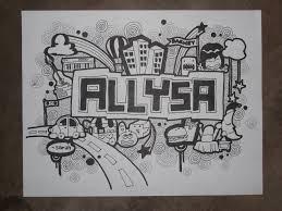 doodle name arts doodle allysa by sarahrejinah on deviantart