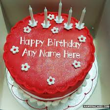 candles red velvet cakes for friends birthday with name hbd cake
