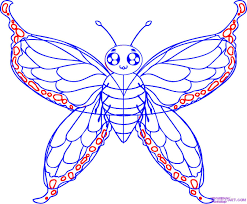 simple butterfly designs to draw