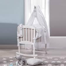italian white coffee rocking crib with veil miro by picci