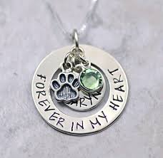 pet memorial jewelry forever in my heart pet memorial necklace pendant sterling
