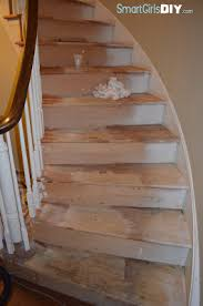 staircase 4 filling holes sanding stripping
