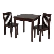 kidkraft avalon table and chair set white amazon com kidkraft square table 2 avalon chair set espresso