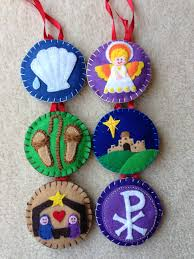 tree felt ornaments a way to pass faith and the real