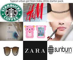 Indian Girl Memes - typical indian urban girl starter pack add adidas superstars to